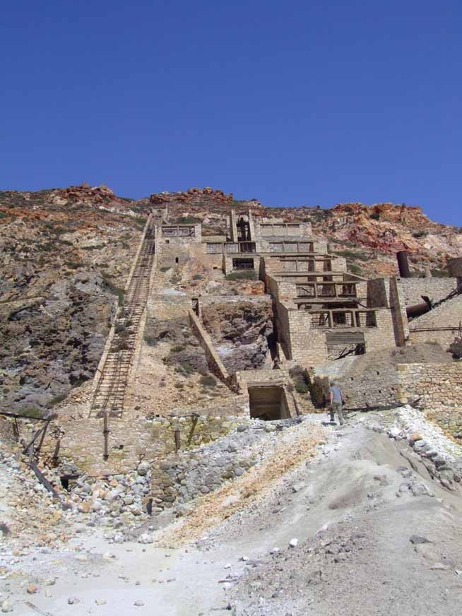 Abandoned sulfur mine, Milos, Greece  (D Smith)