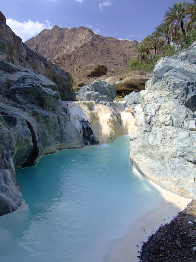 Travertine spring, Oman (D Smith)