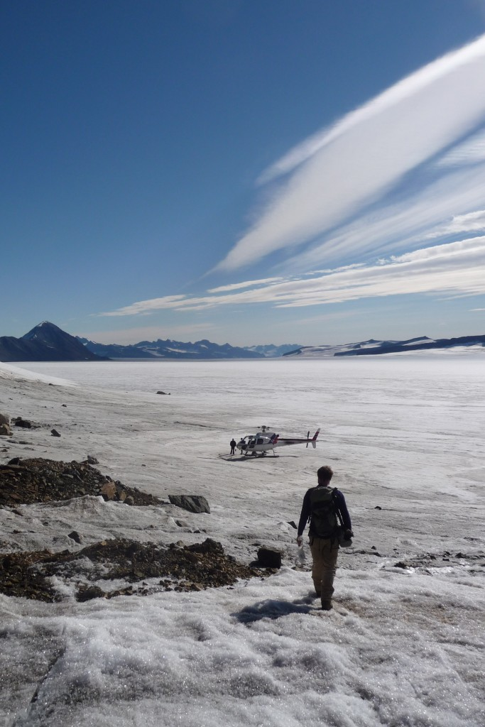 Return to camp after the discovery of Archaean gold at Sortekap, east Greenland. Credit: Dave Holwell (University of Leicester)