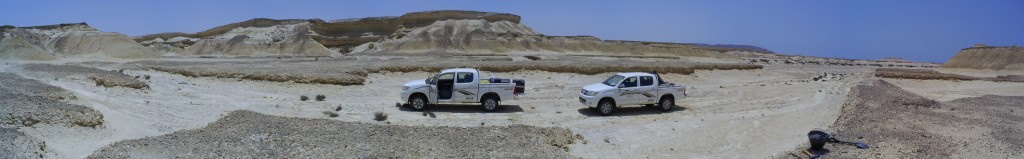 Deploying geophysics equipment on the Arabian Peninsula (V Lane)